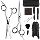 Scissors Hair Cutting Hairdressing Barber Scissors, Light and Sharp Thinning Scissors for Salon, Barbers or Home Use (10 PCS) (10 pcs)