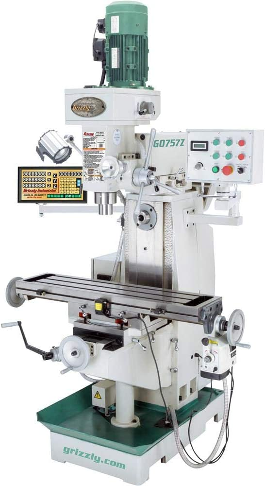 Best Capability And Power - Grizzly Industrial G0757Z Milling Machine with DRO And Powerfeed
