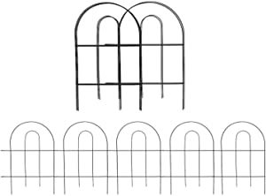 HOLADEN Decorative Garden Fence 18 in x 13 in, Totally 6 ft, Outdoor Coated Metal Wire Fencing Rustproof Landscape Wire Patio Fences Flower Bed Animal Dogs Barrier Border Decor Panels (pack of 5)