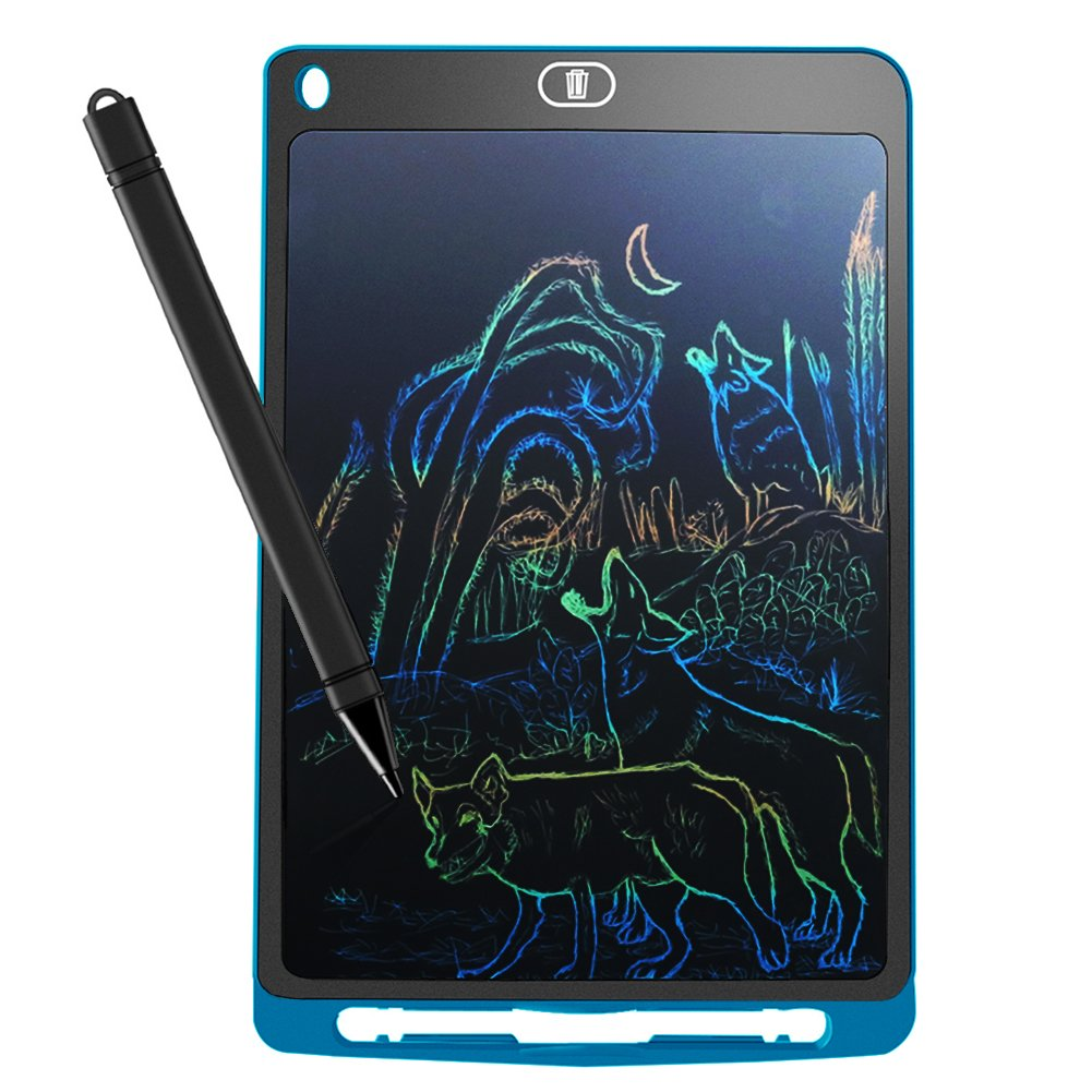 LCD Writing Tablet, YoJetSing 10 Inch Colorful Screen Electronic Drawing Pads Multi Color Digital Graphic E-Writer Office Bulletin Board Kitchen Memo Handwriting and Doodle Pad Gifts for Kids (Blue)