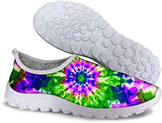 WHEREISART Stylish Lightweight Sneakers Animal Print Shoes for Women Summer Breathable Mesh Sport Running Shoes Size 5.5-10