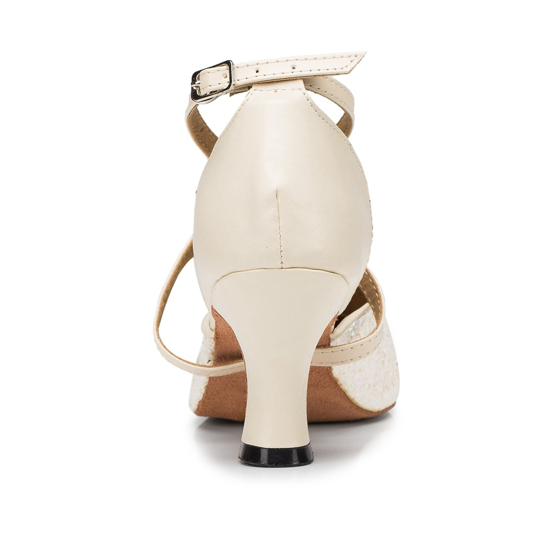 MINITOO da Donna Croce Strap Glitter Ballroom Latin Salsa Scarpe da Ballo   Amazon.it  Scarpe e borse 0d758341a33