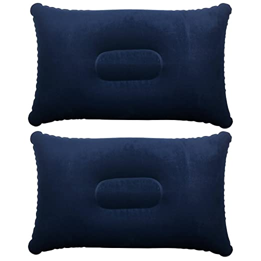 60 opinioni per 2 x morbidi cuscini gonfiabili blu da viaggio e campeggio TRIXES