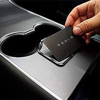 DEF Tesla Model 3 Key Card Holder, Stop Key Card Sliding, Installed on the key sensing area behind the cup holder, Easy…