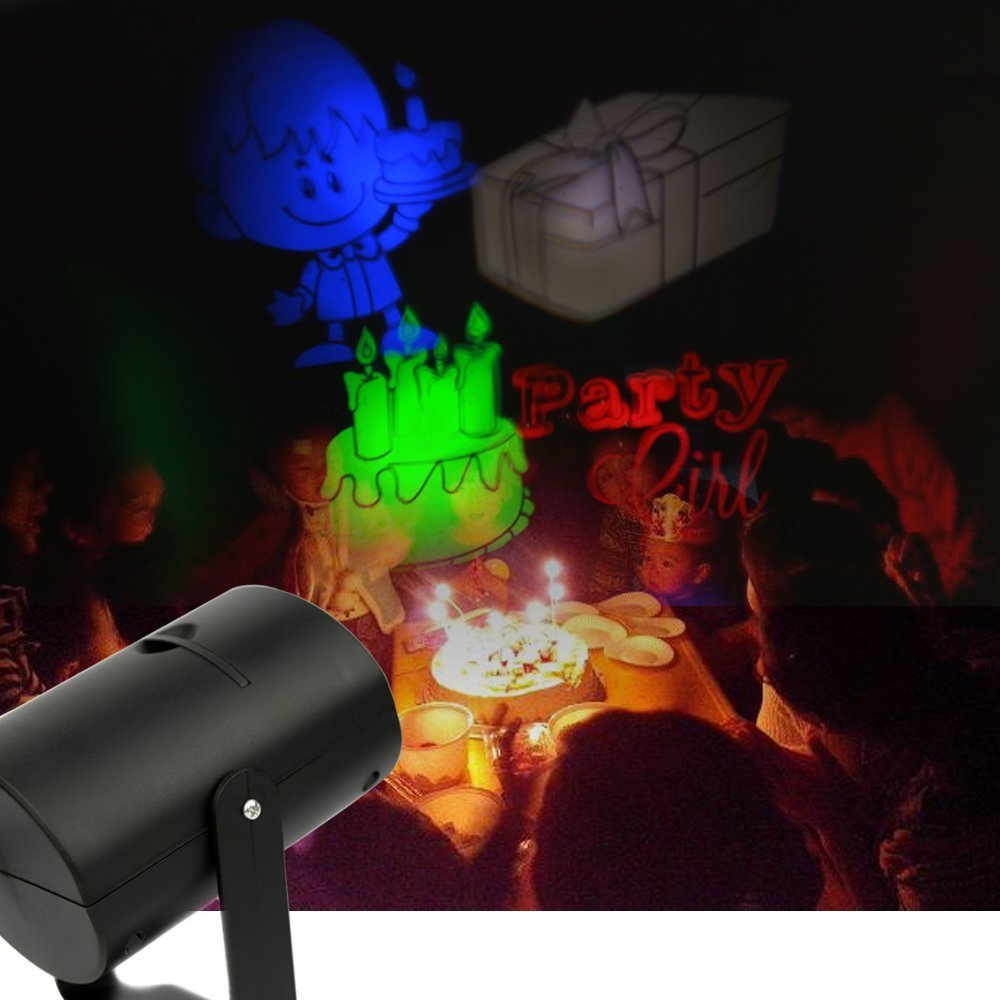 amazoncom upgrade howsan rotating rgb projection led lights multicolor with 7pcs switchable pattern lens for birthday holiday wedding party - Laser Projector Christmas Lights