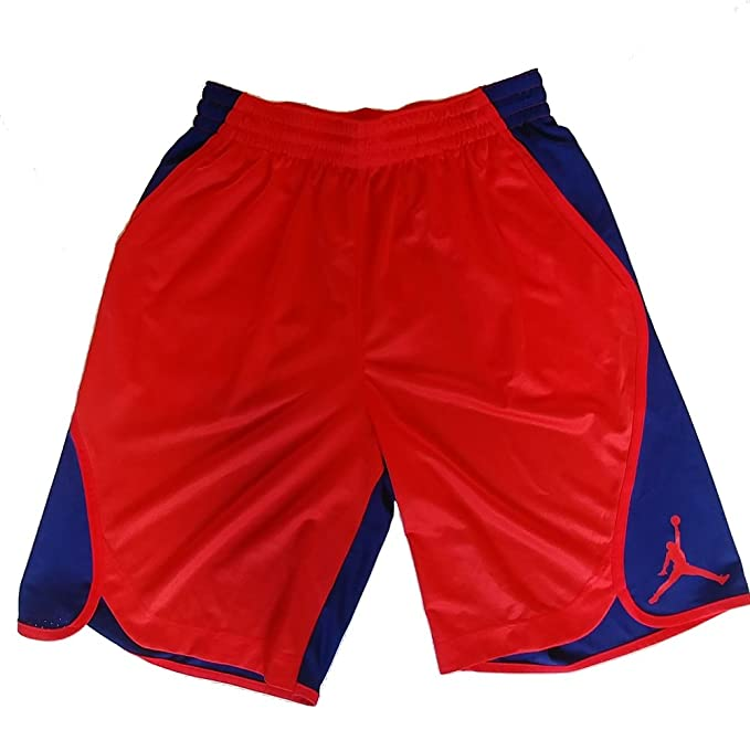 aa02eb7c250dc9 Nike Air Jordan Mens Dri-Fit Victory Flight Jumpman Basketball Shorts  Red Blue (