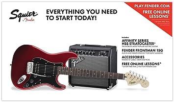 Fender Squier Affinity Pack HSS Guitarra eléctrica con amplificador ...
