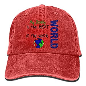 Best Pharmacist In World 2 (Daddy) Unisex Flat Bill Hip Hop Cap Baseball Hat Head-Wear Cotton Trucker Hats Red