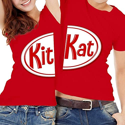 Halloween Friends Shirt.Kit Kat Matching Couple Chocolate Bars Funny Friend Couple Family Kids Halloween Costume Outfit Customized Handmade T Shirt Hoodie Long Sleeve Tank