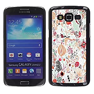 LECELL--Funda protectora / Cubierta / Piel For Samsung Galaxy Grand 2 SM-G7102 SM-G7105 -- Abstract Detailed Art Birds --