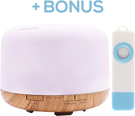 500ml House Aroma Diffuser | Aromatherapy Oil diffusers | Essential Oil Diffuser | Ultrasonic humidifier | Timer and Waterless Auto Off 7 LED Light