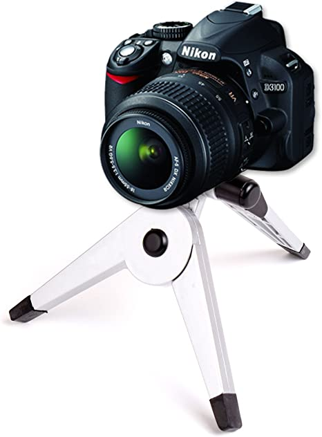 D3100 DURAGADGET Collapsible Comapct Mini SLR Camera Tripod For Nikon D5000