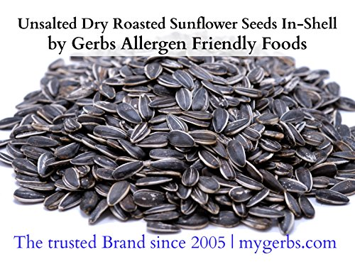 GERBS Unsalted Whole Sunflower Seeds by 4 LBS - Top 12 Food Allergy Free & NON GMO - Vegan & Kosher - In-Shell Dry Roasted Seeds Grown in USA by GERBS (Image #1)'