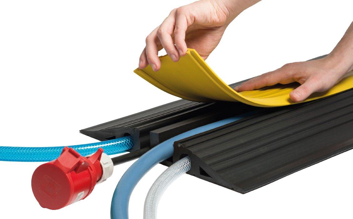EHA 45022 Vario Kabelbrücken - Ideal für Baustellen, Marktplätze, Lager- und Werktstattbereiche schwarz gelb B01N8WVKTN | Starker Wert