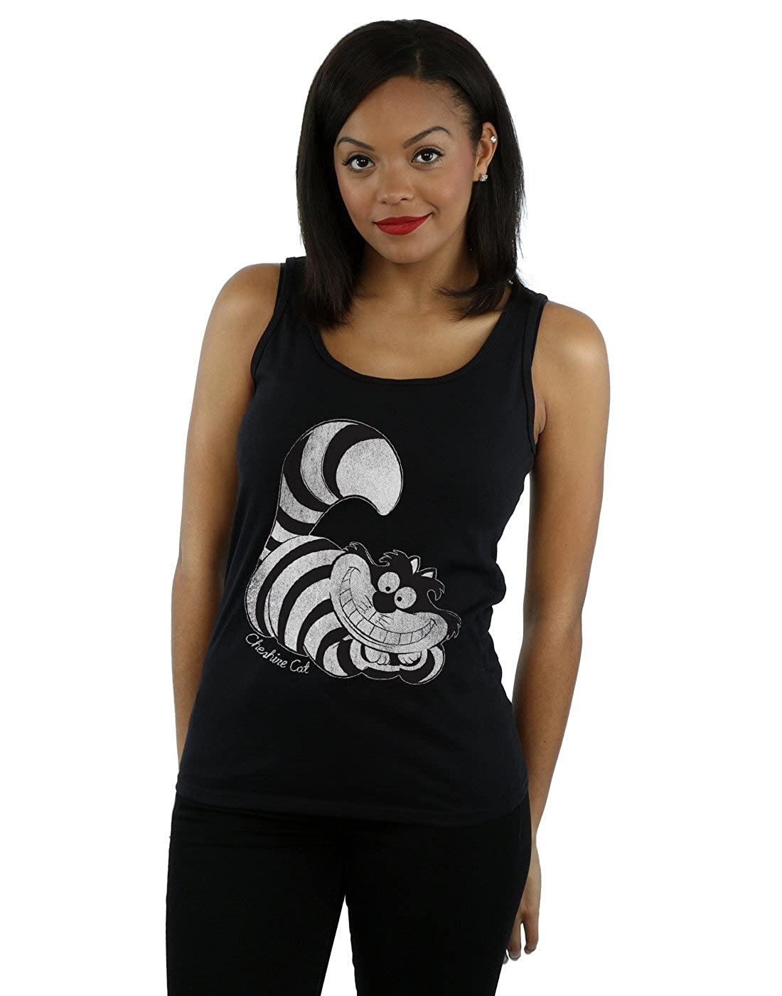 Disney mujer Alice In Wonderland Mono Cheshire Cat Tank Top