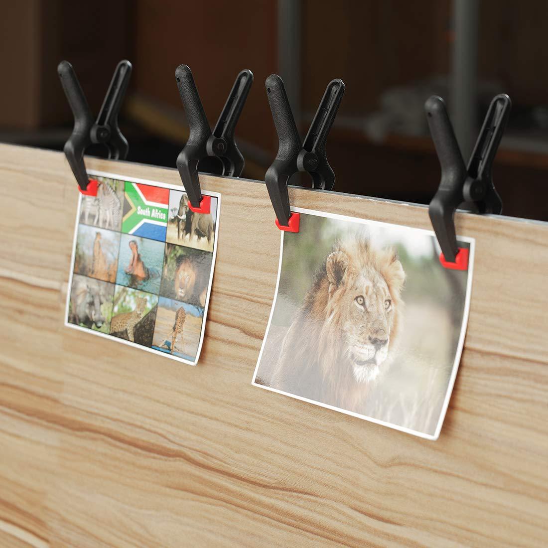 WORKPRO Jeu de Pince /à Ressort Plastique Ouverture jusqu/à 60 35 mm Pince de serrage pour Bois Atelier Photographie 16 Pi/èce 45