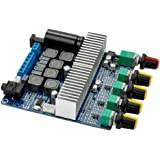 AOSHIKE DC12V-24V 2.1 Channel TPA3116 Subwoofer Amplifier Board High Power Bluetooth Audio Amplifier Board 50W+50W+100W (Bluetooth Amp)