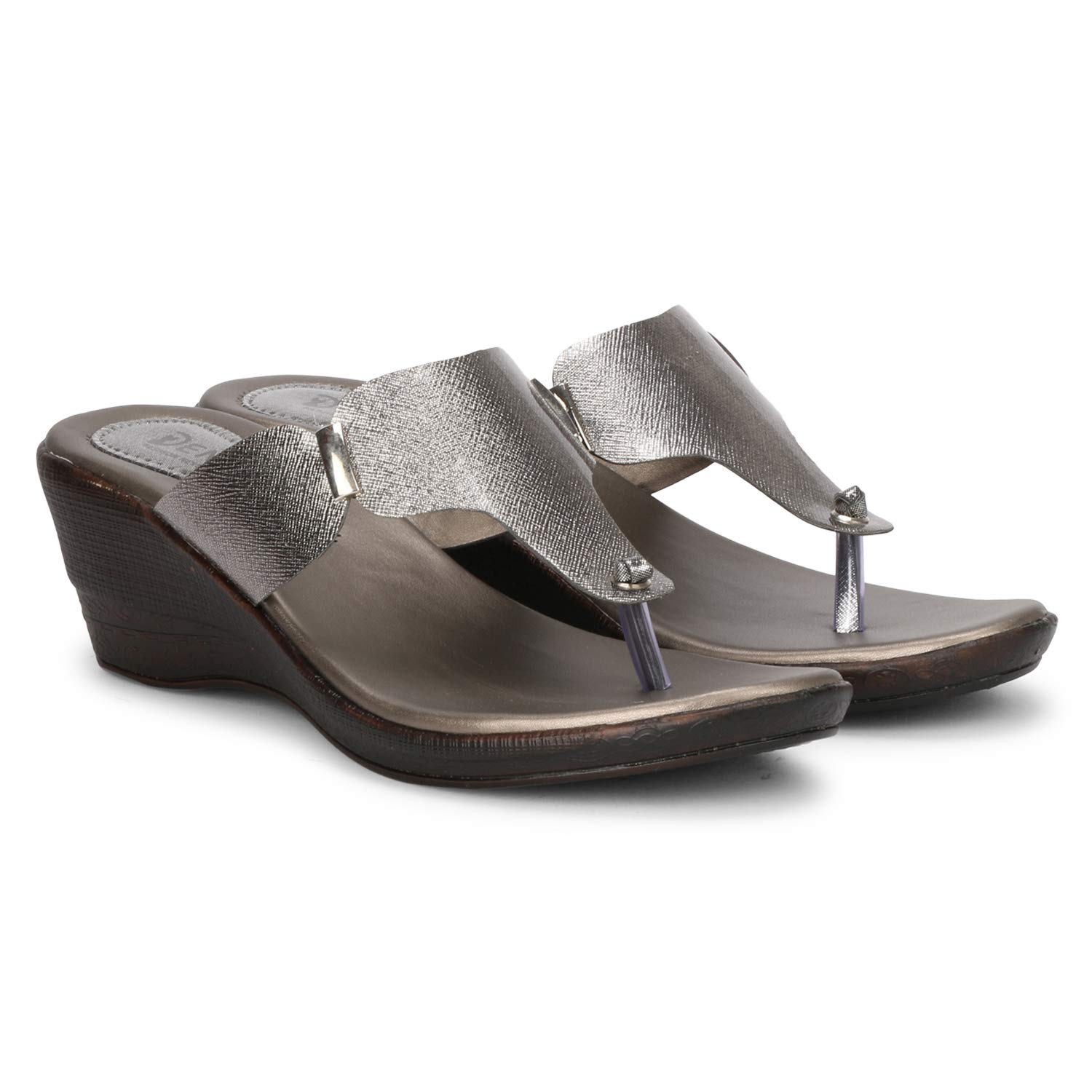 Denill Latest Collection, Comfortable Wedges for Women's & Girl's (9 UK/India (42EU), Grey) (B07NWR7CLX) Amazon Price History, Amazon Price Tracker