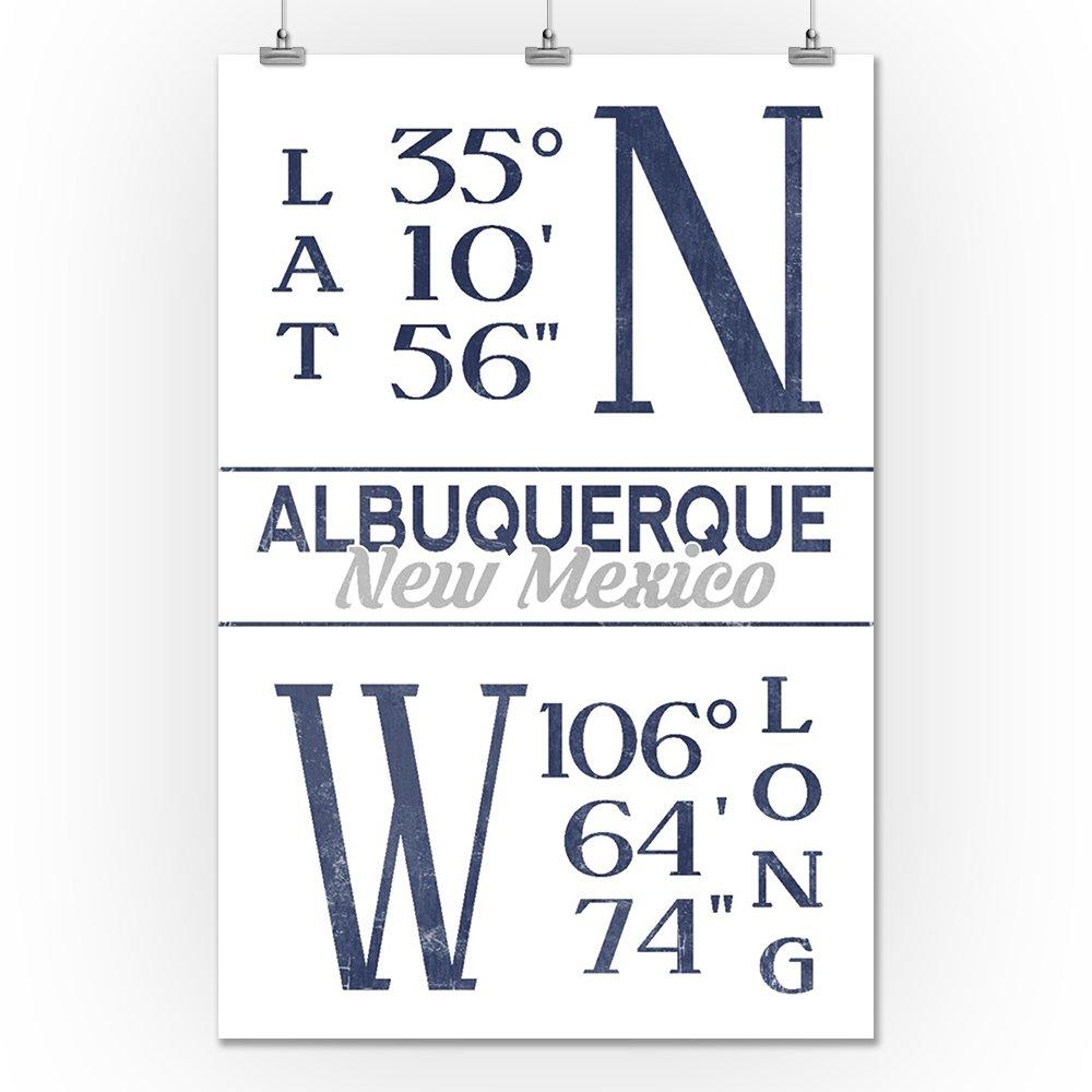 Amazon.com: Albuquerque, New Mexico - Latitude and Longitude (Blue ...