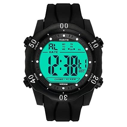 LogobeingDigital Reloj Deportivo,Reloj Impermeable Del Deporte Del Cuarzo Militar Del Ejército Baratos (Blanco