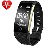 Fitness Tracker Watch,Yamay Activity Tracker Heart Rate Monitor Waterproof Fitness Smartwatch Smart Bracelet Pedometer Wristband Tracker /Cycling/Sleep Monitor/Find phone/Call SMS Whatsapp Vibration for Android iOS Phone