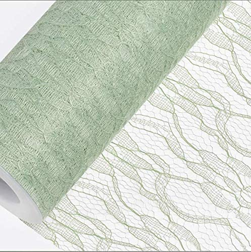 Blue Decor Trader LACE NETTING ON A ROLL 15cm X 10m WEDDINGS 7 COLOURS TABLE RUNNERS