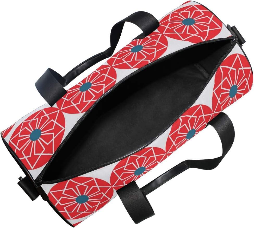 MALPLENA Geometrical Flowers Drum gym duffel bag women Travel Bag