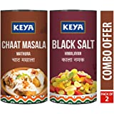 KEYA Combo of Chaat Masala (80 G) and Kala Namak (200 G)
