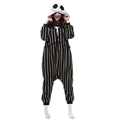 a78e44686969 Amazon.com  Jack Skellington Adult Onesie. Animal Pajama Costume for ...