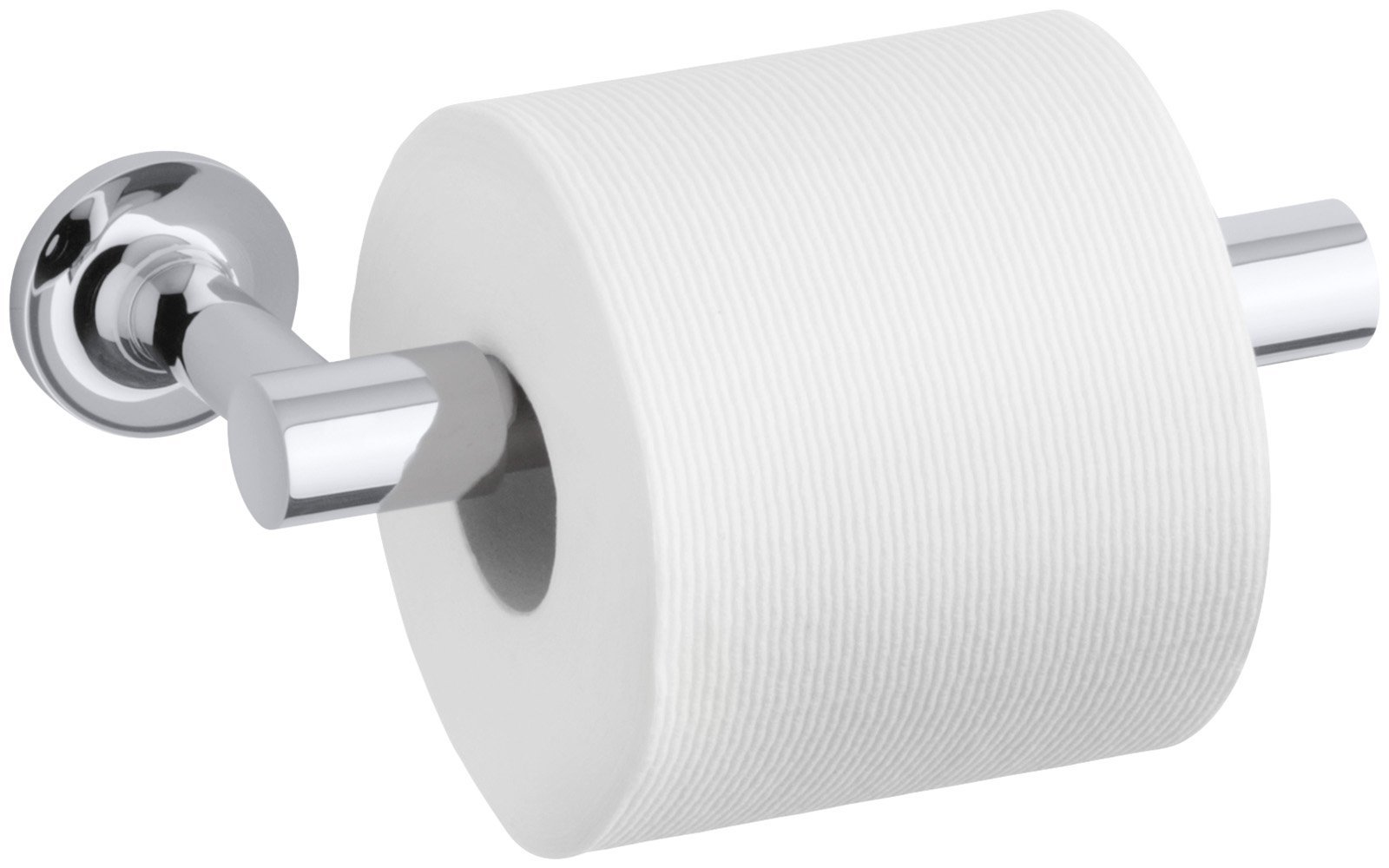 Kohler K-14377-Cp Purist Pivoting Toilet Tissue Holder, Polished Chrome