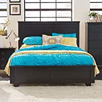 Progressive Furniture Diego 6/6 King Headboard, King, Black