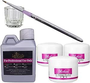 Warm Girl 6 in 1 Nail Art Kit Acrylic Liquid Powder Pen Dappen dish set
