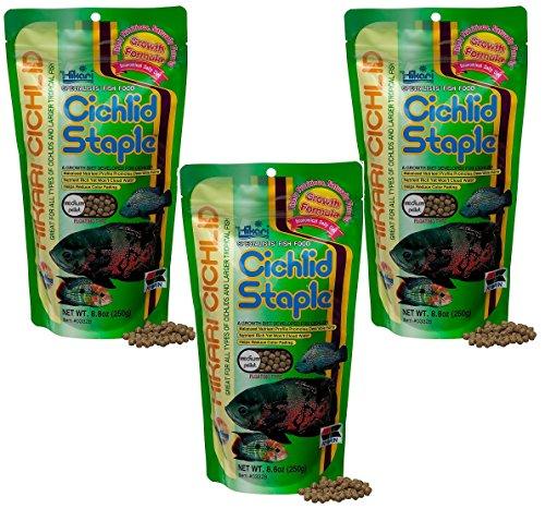 (3 Pack) Hikari 8.8-Ounce Cichlid Staple Floating Pellets for Pets, Medium ()
