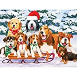 Bits and Pieces - 500 Piece Jigsaw Puzzle for Adults - Sled Dogs - 500 pc Puppies, Winter, Holiday Jigsaw by Artist William Vanderdasson