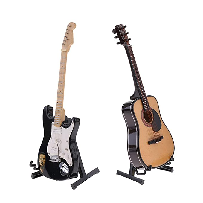 Amazon.es: Sharplace 2pcs 1/6 Modelo de Instrumentos Musicales de Guitarra en Miniaturas para 12 Pulgadas Figura de Acción: Juguetes y juegos