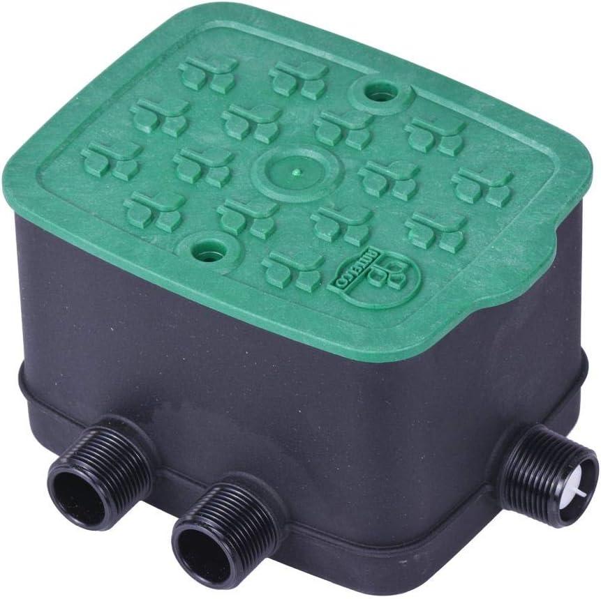 Antelco Ezyvalve - Pozo con 4 electroválvulas de 24 V para riego automático, Negro y Verde