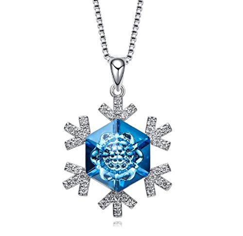 moda firmata ebd37 248cb BC Worldwide Ltd ciondolo ciondolo collana cristallo fiocco di ...