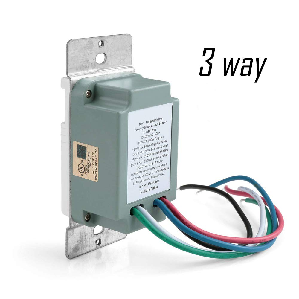 ECOELER 3 Way Motion Sensor Light Switch, Neutral Wire Required, Sensing  Switch for Indoor Use, UL Title24 FCC Approved Motion Activated Switch:  Amazon.com: Industrial & ScientificAmazon.com