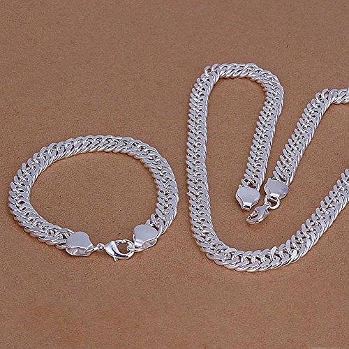 Wonderful Dream S141 2015 New Arrival, Men Necklace 925 Sterling Silver Men'S Jewelry,925 Necklace+Bracelet Jewelry Set,