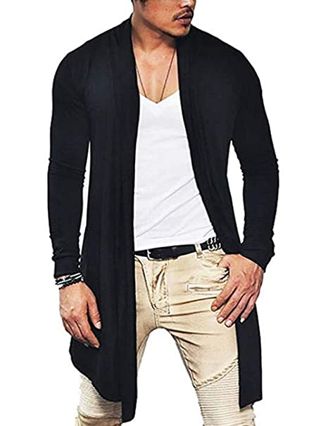 Amazon.com: Cárdigan de manga larga para hombre, estilo ...