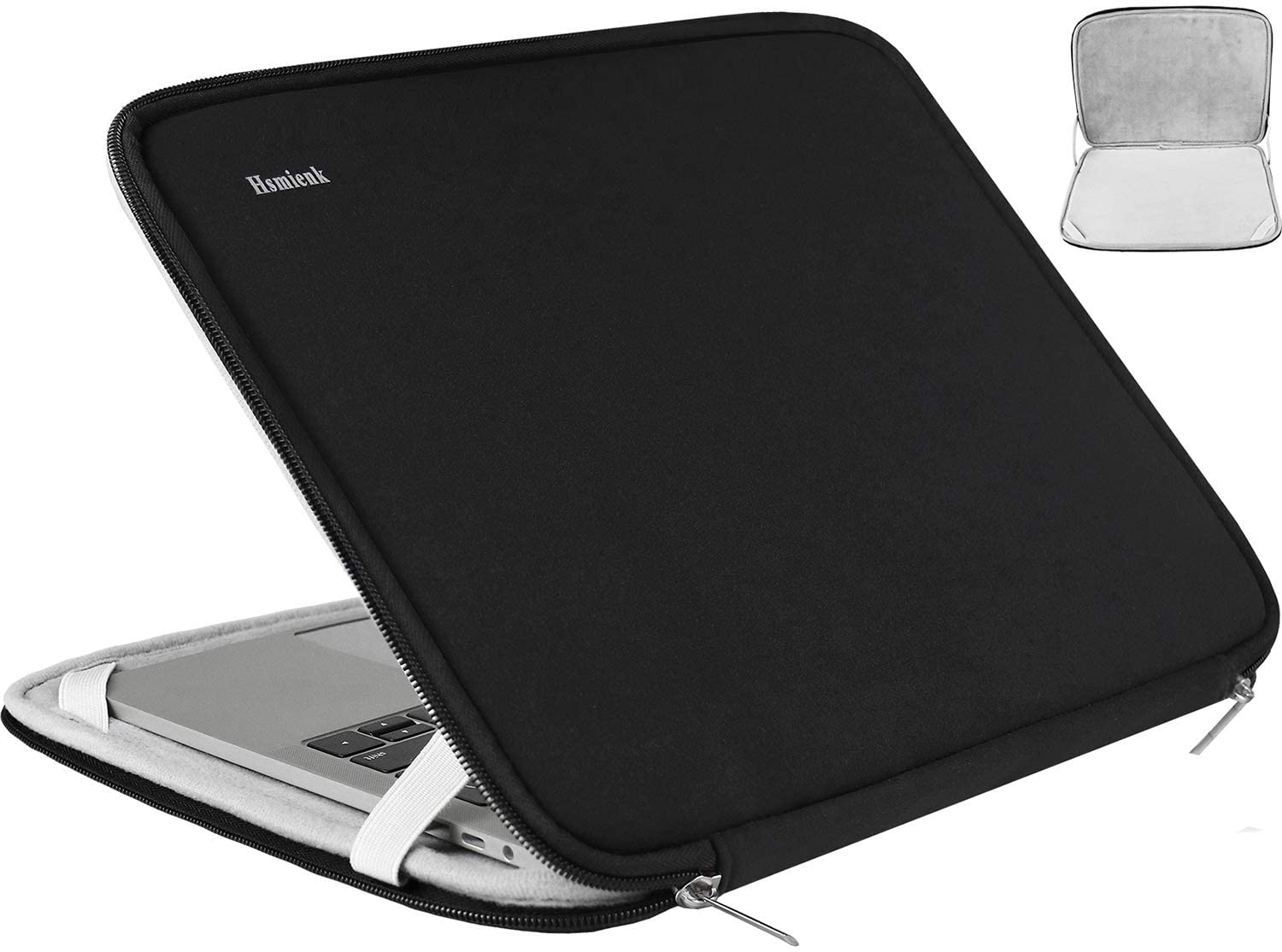 Laptop Sleeve 15.6 Inch, Durable Shockproof Protective Cover Flip Case Briefcase Carrying Bag Compatible with 15