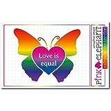 pinkelephant Aufkleber / Autoaufkleber Rainbow 24 - Schmetterling - Butterfly - 10,5 x 8,5 cm - Regenbogen
