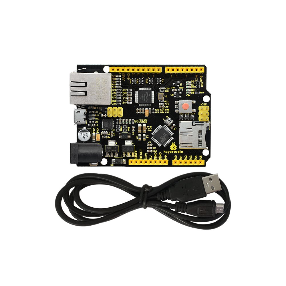 KEYESTUDIO W5500 Ethernet Development Board with USB Cable(Without Poe) for Arduino