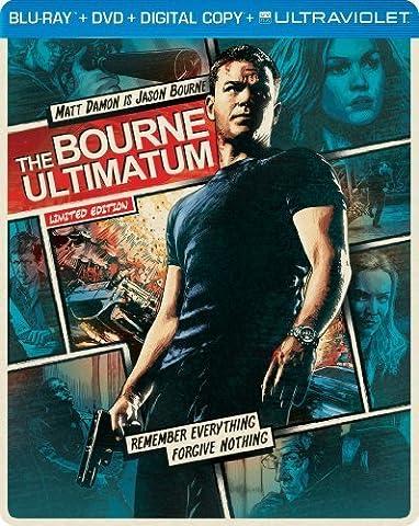 The Bourne Ultimatum (Steelbook) (Blu-ray + DVD + DIGITAL with UltraViolet) by Universal Studios (Universal Studios Steelbook)