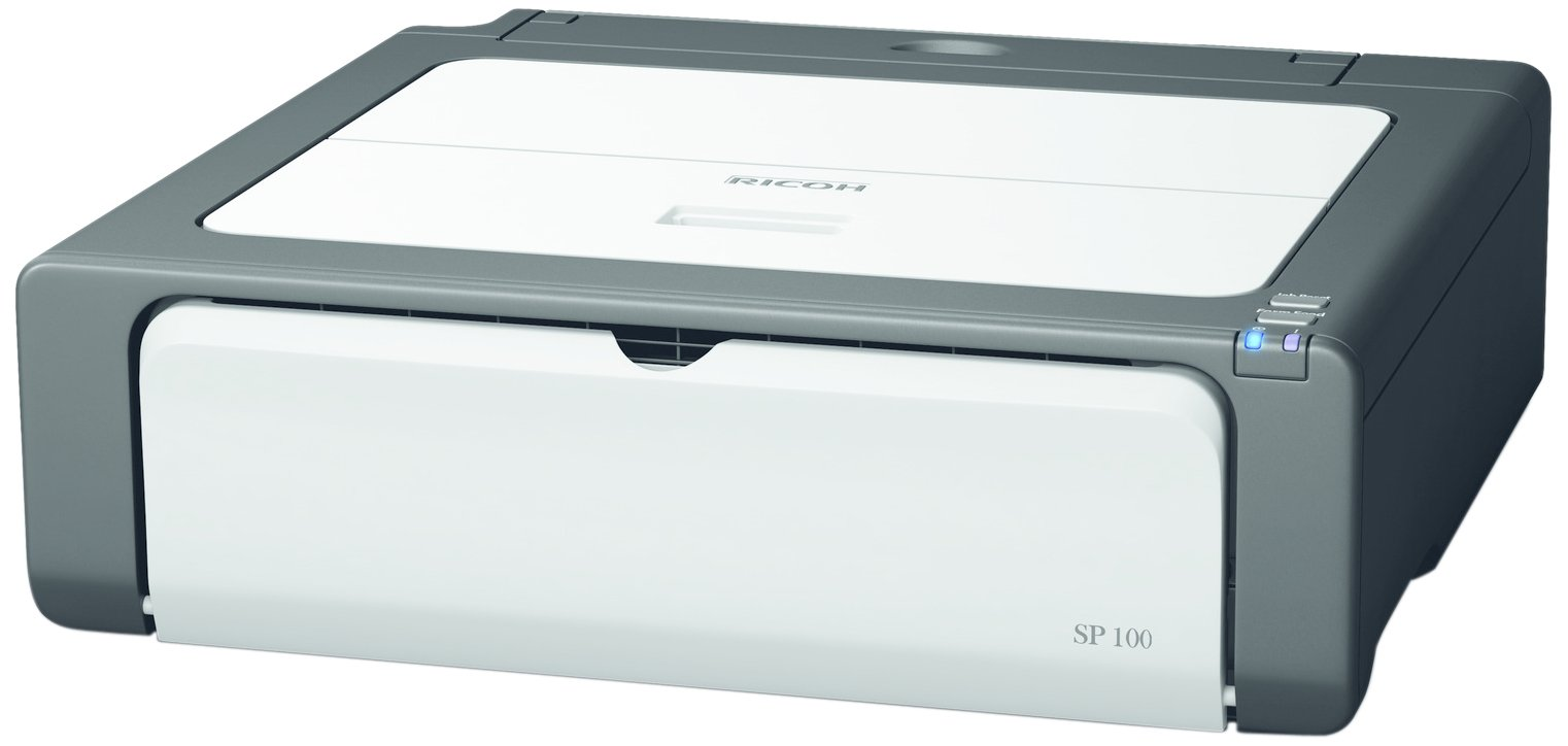 Ricoh Aficio SP 100e Black & White Laser Printer, 10000 Pages Duty Cycle, 1200 x 600 dpi Print Resolution