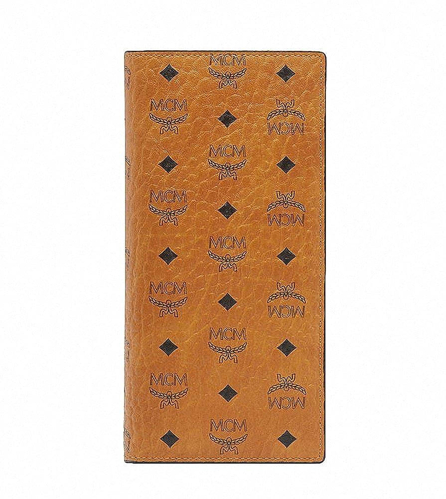 【エムシーエム】 MCM メンズロングウォレット二つ折りフラップ長財布コニャックスマートフォン収納 Long Bifold Wallet for men Cognac [並行輸入品] B07F68VZJQ