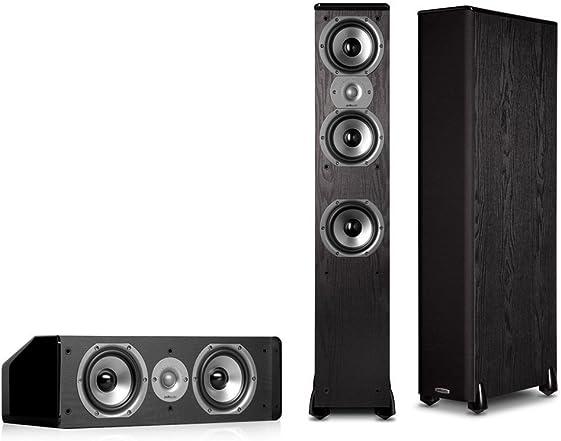 Polk Audio TSi 400 FloorStanding Speaker Pair Plus A Polk Audio CS10 Center Channel Speaker