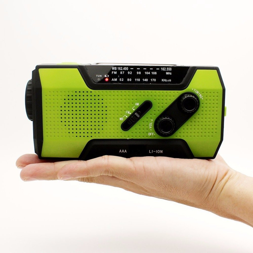 Welcome Nook Emergency Multi-Purpose Portable Weather Solar Hand Crank Radio | SOS Alarm |2000mAh Power Bank | LED Flashlight | Bright Reading Lamp | Phone Charger | AM/FM/NOAA Weather Band
