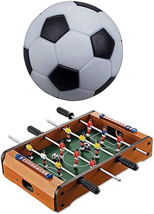 Futbolín de futbolín de futbolín de resina plástica de resina para máquina de fútbol, 5 unidades, color blanco y negro: Amazon.es: Hogar