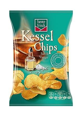 funny-frisch Kessel Chips Salt und Vinegar,10er Pack (10 x 120 g ...